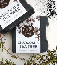 Load image into Gallery viewer, Charcoal and Tea Tree Face Cleanse Soap