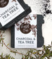 Charcoal & Tea Tree Face Antibacterial Cleanse Soap
