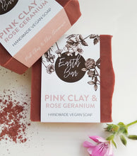 Load image into Gallery viewer, Pink Clay and Rose Geranium Face Cleanse Soap