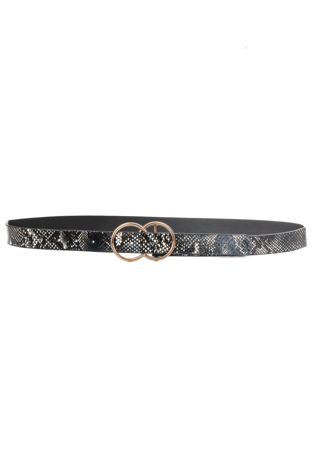 Faux Animal Print Double Buckle Belt - besties STUDIOS
