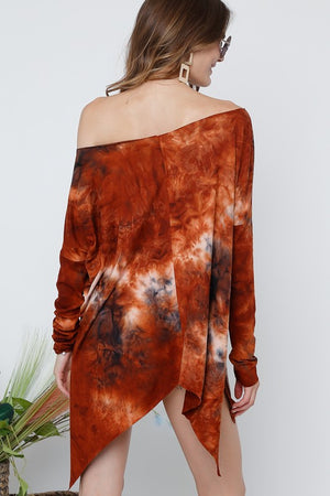 Tie Dyed Long Sleeve Top - besties STUDIOS