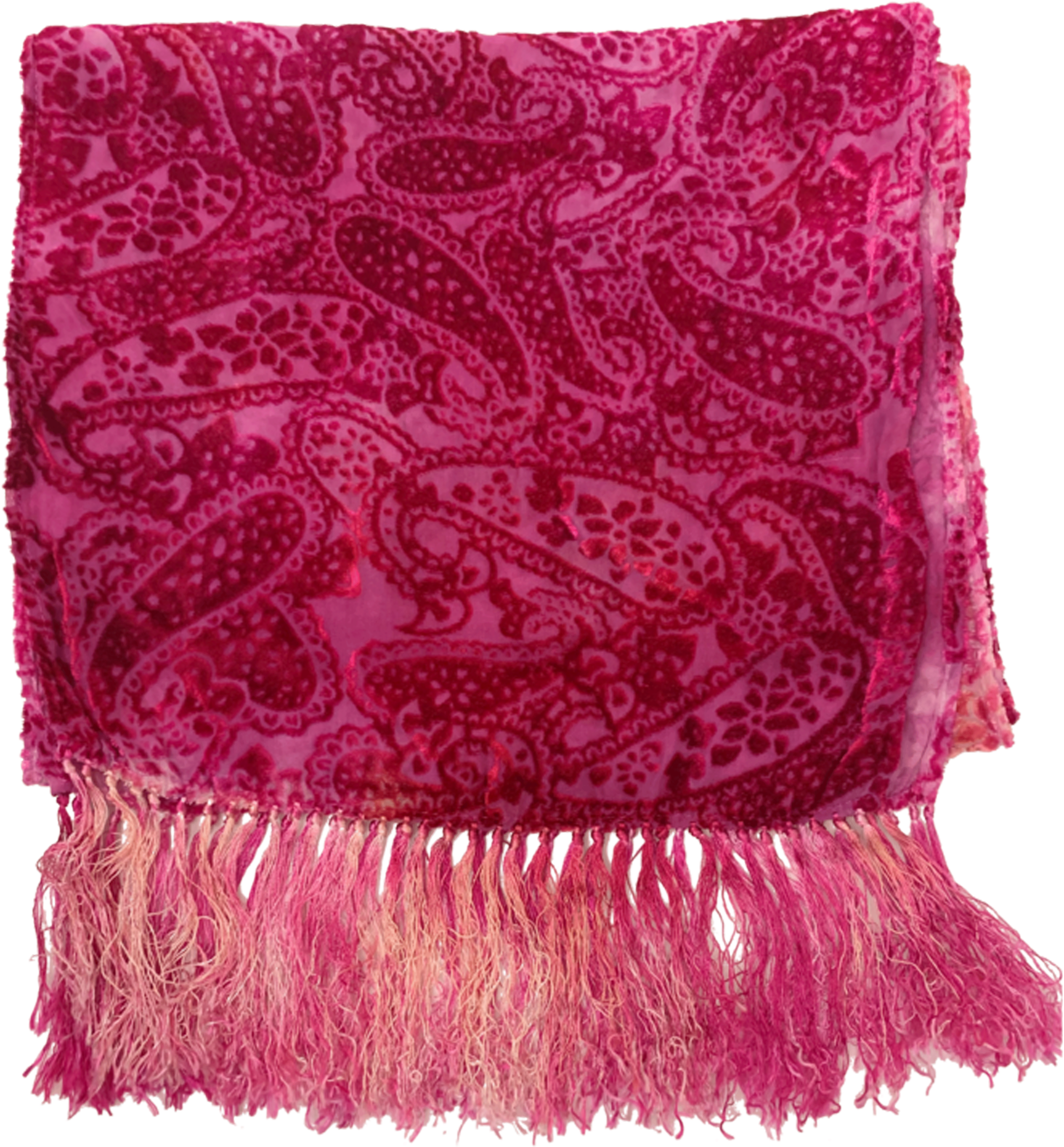 Silk cut Velvet Burnout Scarf - besties STUDIOS