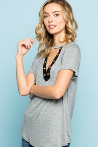 Gigi V-Neck Knit Top - besties STUDIOS
