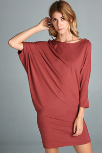 Hello Fall Asymmetrical Dress - besties STUDIOS