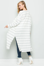 Stripe Mohair Knit Cardigan - besties STUDIOS
