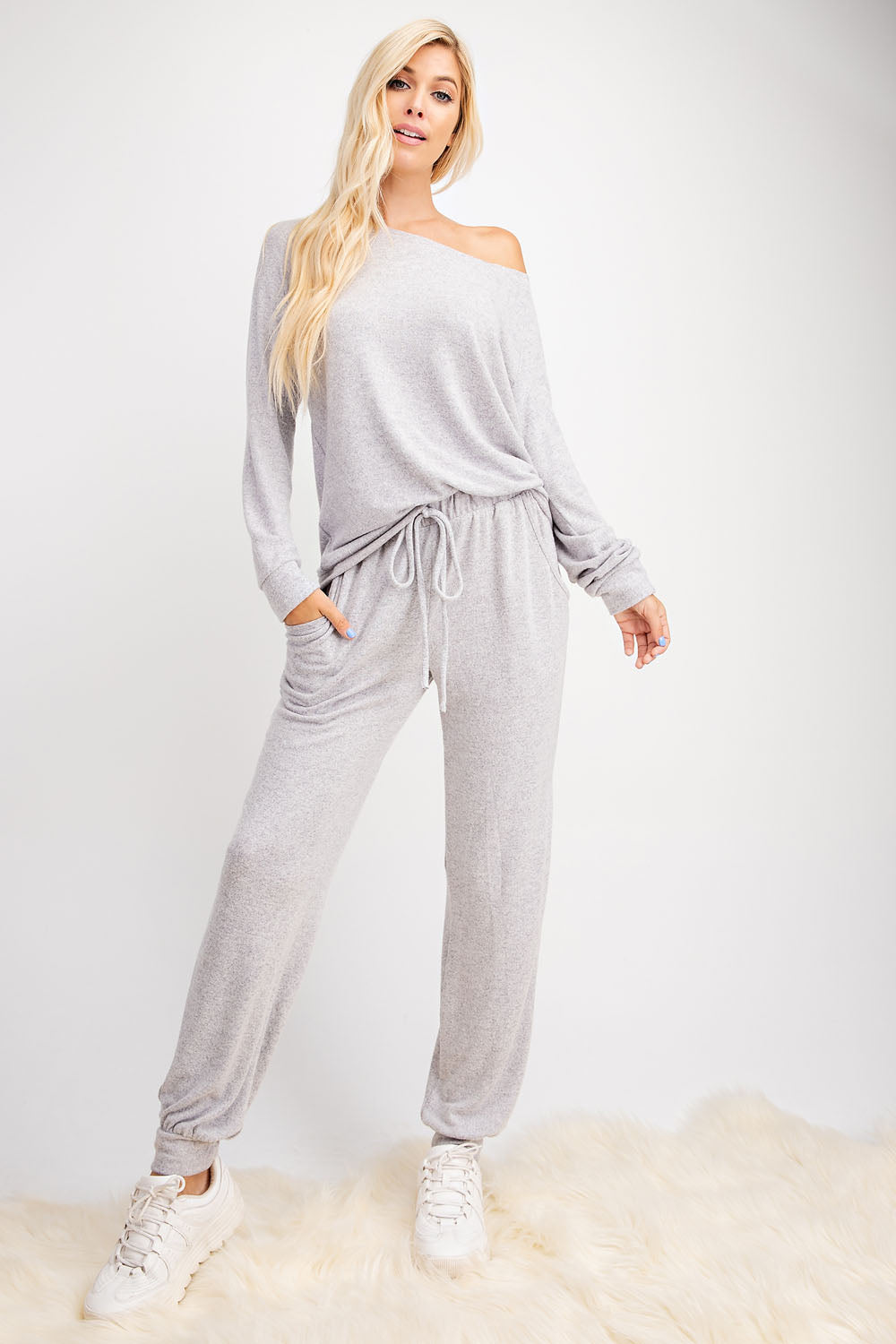 Soft Brushed Knit Jogger Pant - besties STUDIOS
