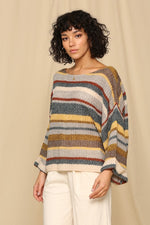 Winter Wonderland Striped Sweater - besties STUDIOS