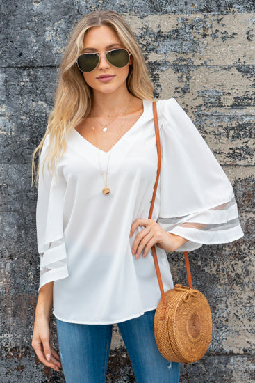 Bell Sleeve Blouse - besties STUDIOS