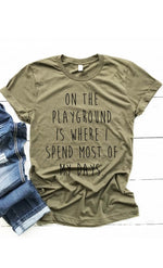 On The Playground Graphic Tee - besties STUDIOS