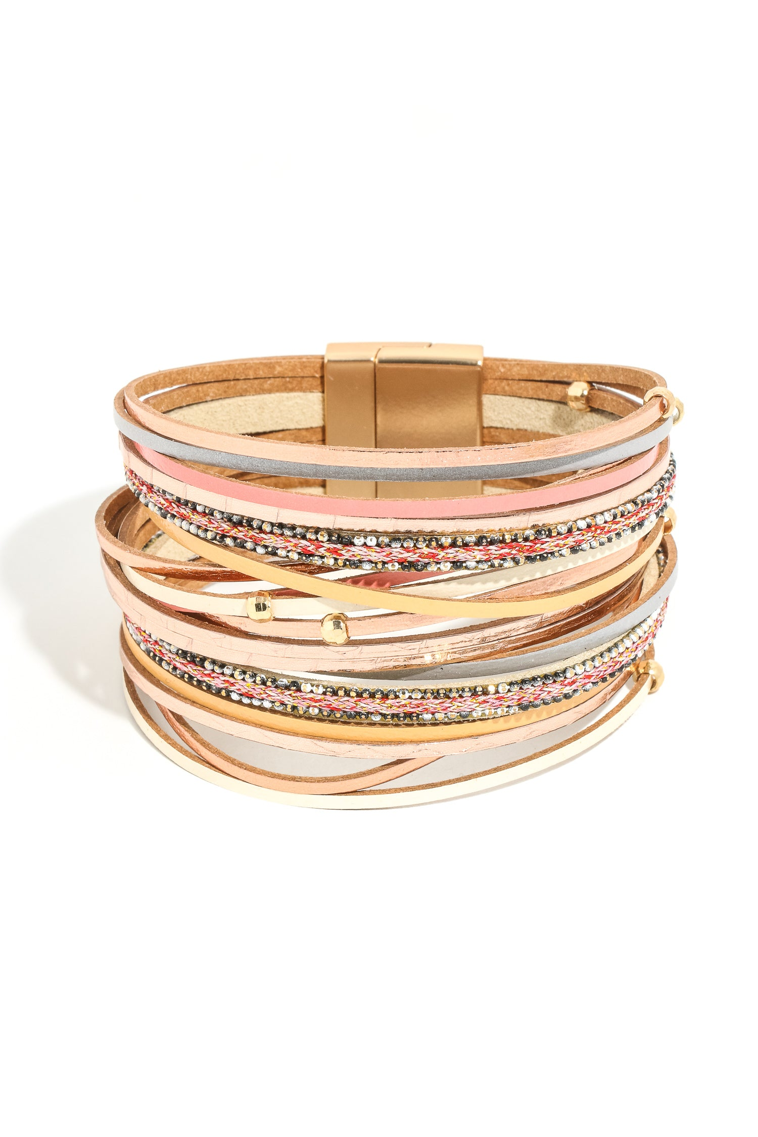 Layered Strands Magnetic Bracelet - besties STUDIOS