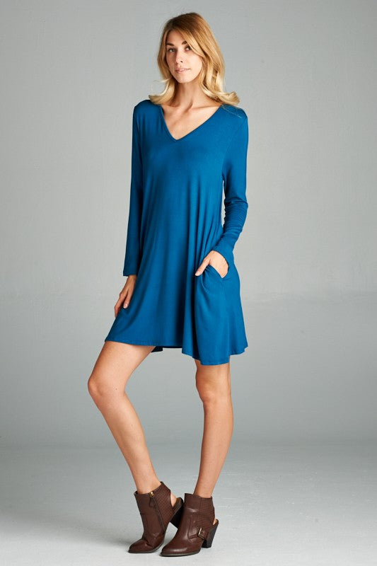 Long Sleeve Knit Dress - besties STUDIOS