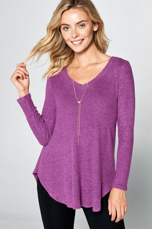 V-Neck Tunic Top - besties STUDIOS