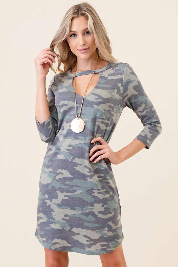 Tunic Dress with Gigi V Neck - besties STUDIOS