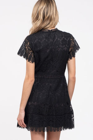 Lace Dress With Scallop Trim - besties STUDIOS