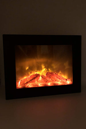 Flat Screen TV Log Fire