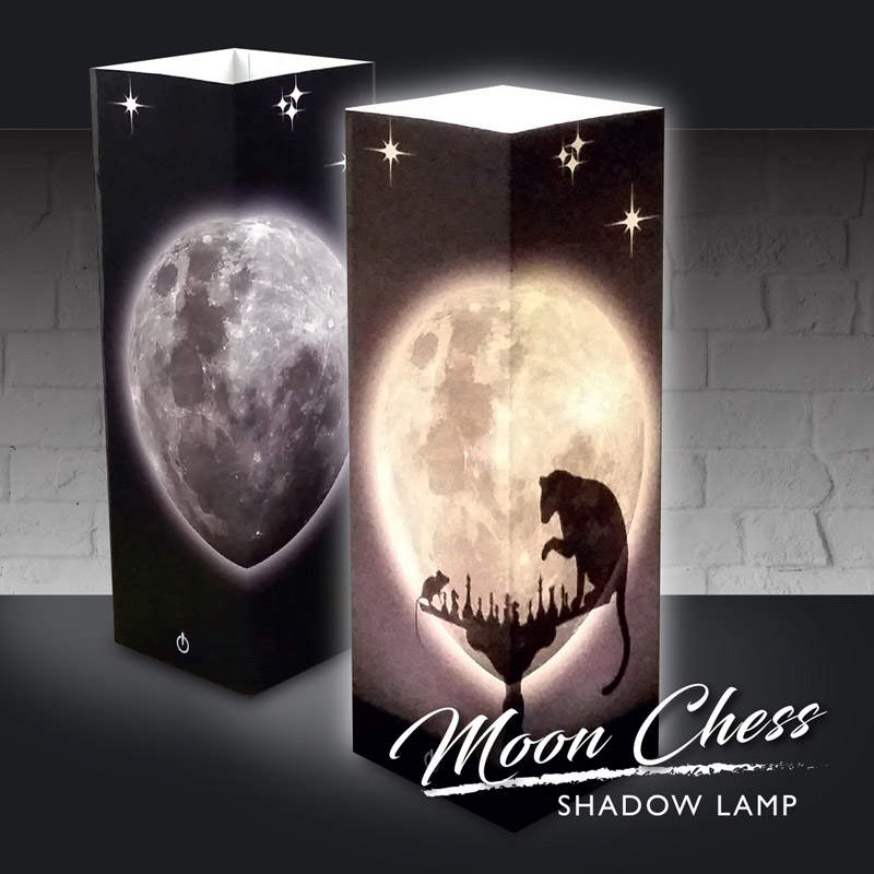 Moon Chess # tieňová lampa