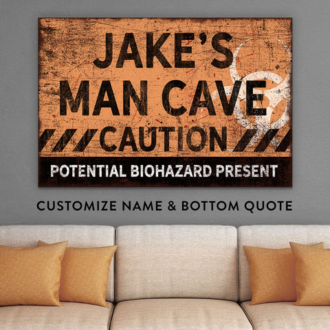 Zombie walking dead man cave gifts for husband