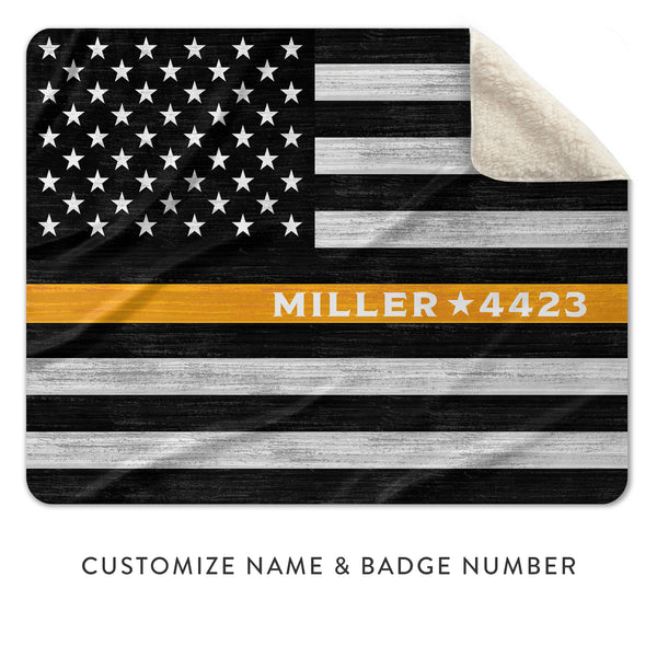 Thin Gold Line Thin Yellow Line Gifts For 911 Emergency Dispatchers, Truck Drivers, and Tow Operators