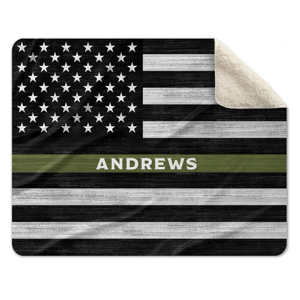 Thin Green Line Custom Gifts For Active Duty Military and Veterans For Deployments and Homecoming
