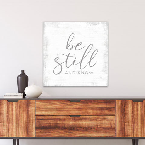 Be Still and Know Bible Scripture Wall Art