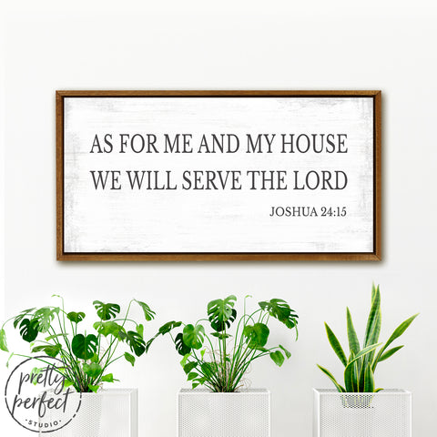 We will serve the Lord Bible Scripture Canvas