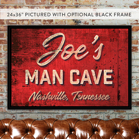 Man Cave Custom Canvas Wall Art Gifts For Him