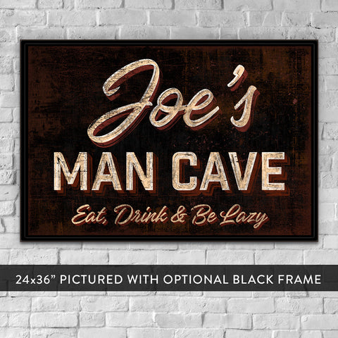 Custom Man Cave Wall Art Gifts For Husband