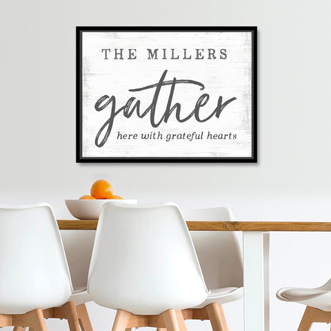 Gather Family Farmhouse Canvas Wall Art Gifts For Her
