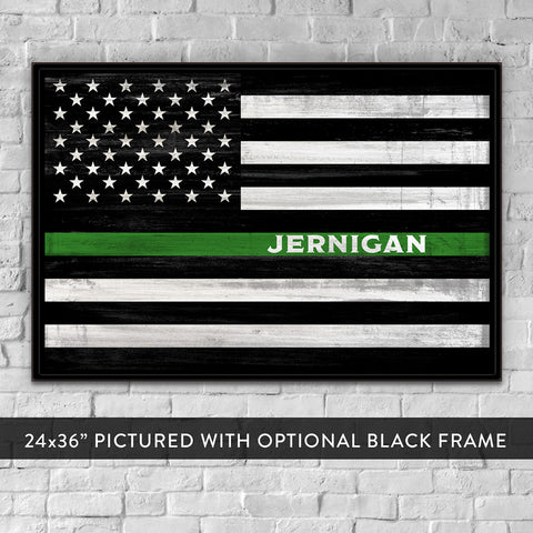 Custom Border Patrol Sign - Thin Green Line for Game Wardens