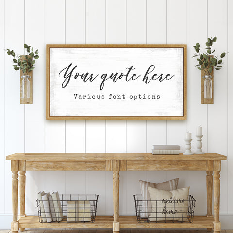 Custom Quote Wall Art Canvas, Personalized Canvas
