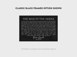 The Man In The Arena Canvas Wall Art Video - Pretty Perfect Studio