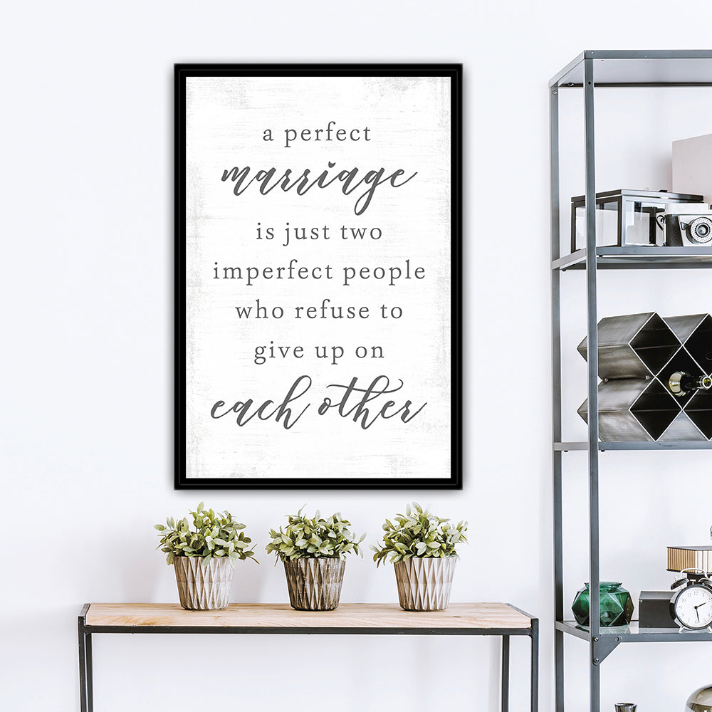 A Perfect Marriage Custom Canvas Art Above Table - Pretty Perfect Studio