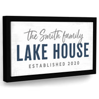 Lake House Sign Personalized With Family Name