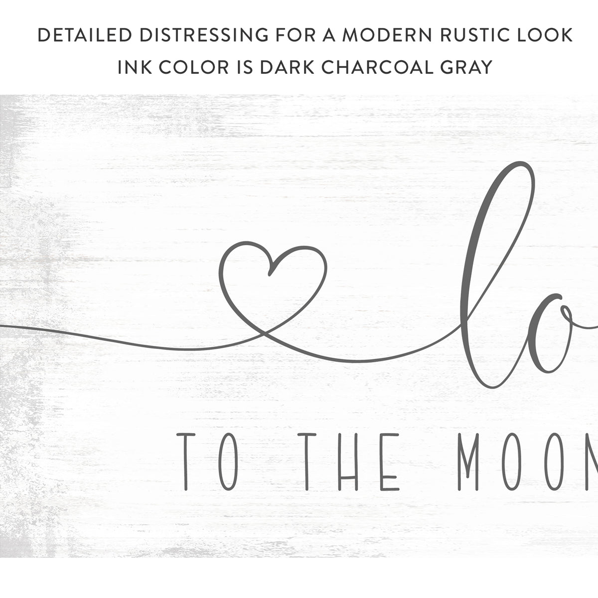 Love You to the Moon and Back Sign With Hearts - Pretty Perfect Studio
