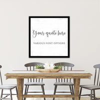 Personalized Canvas Wall Art With Custom Quote