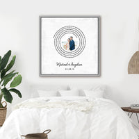 Personalized Song Lyric Wall Art