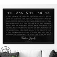 The Man In The Arena Canvas Wall Art