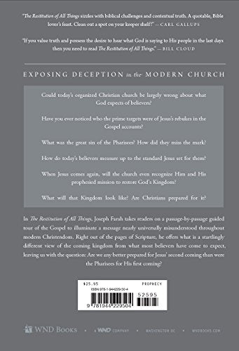 The Restitution of All Things: Israel, Christians, and the End of the Age by Joseph Farrah