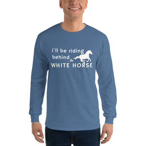 Endtimes Inspired White Horse Men's Long Sleeve T-Shirt