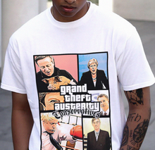 Load image into Gallery viewer, Grand Theft Austerity Tee - White