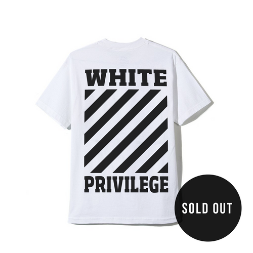 White Privilege Tee in White
