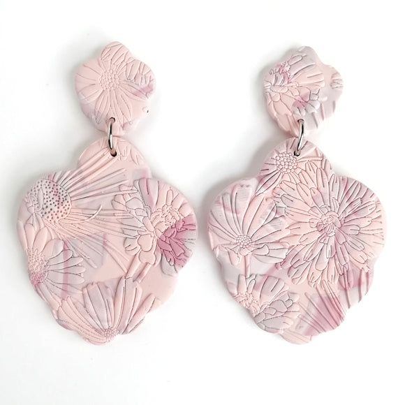 Altheda - Large Royal Liliya Drop Earring - peachy