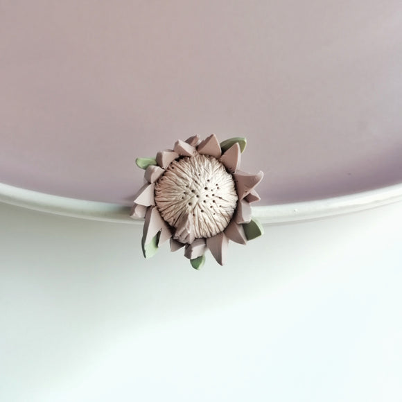 Chaska Protea Ring - Stainless steel adjustable ring