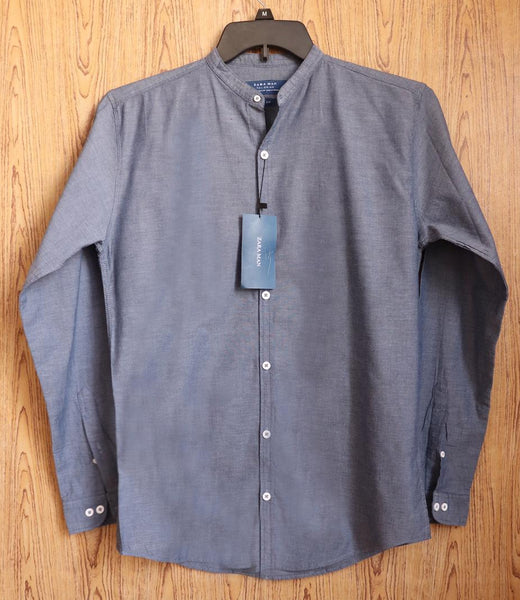 "Zara Man PREMIUM SLIM FIT SHIRT ""GREY"" SKU-1001"