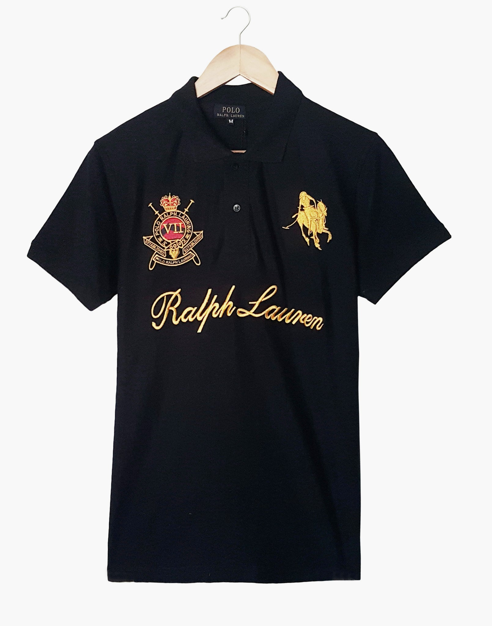 "POLO RALPH LAUREN EMBROIDERED CROWN POLO ""NAVY"""