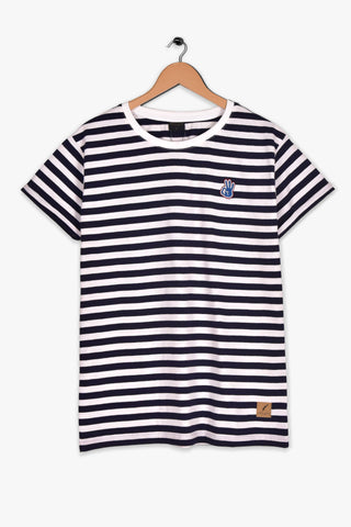 "KLEINIGKEIT STRIPED T SHIRT ""NAVY/WHITE"""