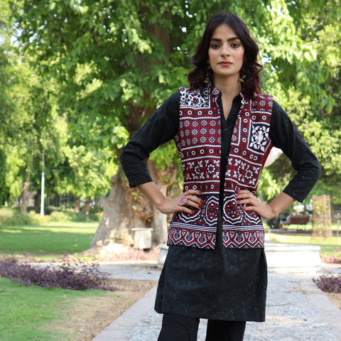 HIMAD WOMEN AJRAK ATTIRE WAIST COAT