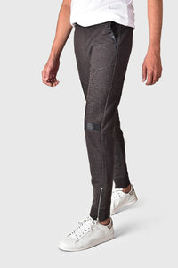 "YMN ZIPPER BOTTOM BIKER TROUSER ""CHARCOAL"""