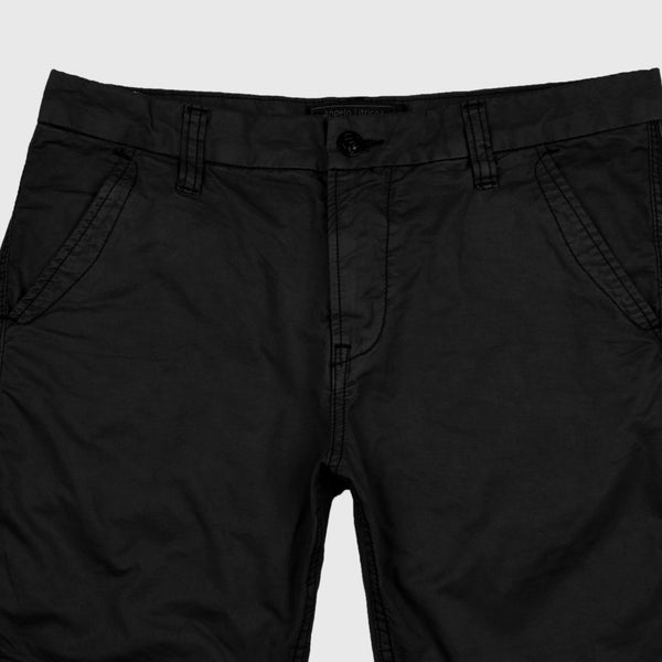 "ANGELO LITRICO SIDE STRIPS COTTON CHINO SHORTS ""SKU-1002-BLACK"""