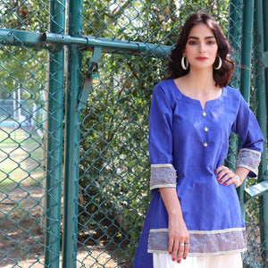 HIMAD WOMEN COBALT BLUE SHIRT